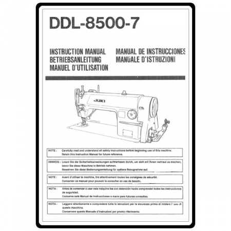 Instruction Manual, Juki Ddl-8500-7 : Sewing Parts Online
