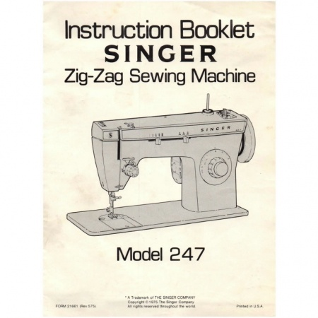 Instruction Manual, Singer 247 : Sewing Parts Online
