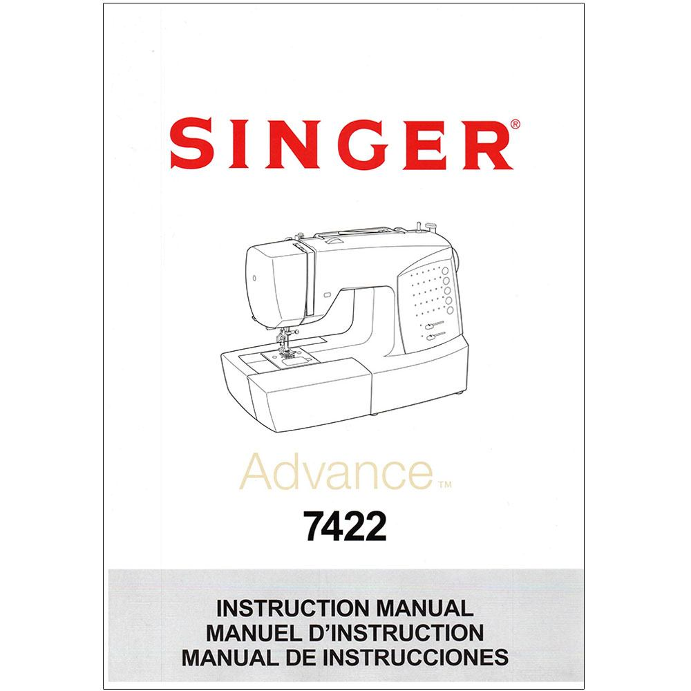 instruction manual  singer 7422   sewing parts online